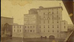 Photograph, Crescent Mill & Pearl Street Covered Bridge, late 1870s