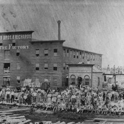 Photograph, Widdicomb Brothers & Richards Furniture Factory, Work Crew Outdoors