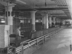 Photograph, Furniture Worker Staining School Desks