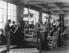 Photograph, Furniture Factory Scene, Prospective Buyers