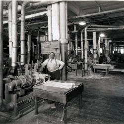 Photograph, Furniture Factory Scene, Woodworking Machinery