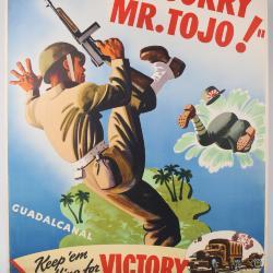 """Poster, """"So Sorry Mr. Tojo!"""""""