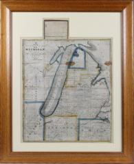Map, A New Emigrant's Map Of Michigan