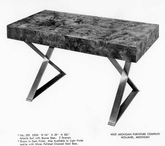 Grand Rapids Public Museum Collections Artifact Catalog Adver West Michigan Furniture Company Desk 204505