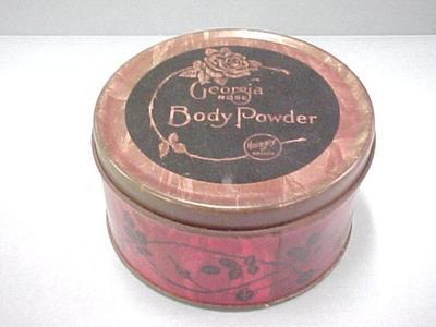 Georgia Rose Body Powder Tin