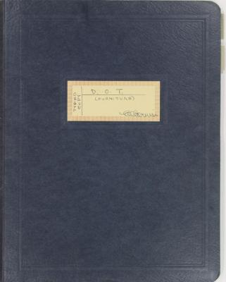 Folder, Dictionary of Titles for Furniture Industry and Description of FMA Job Training Program