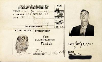 Identification Card, Alex Drozdowski