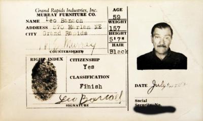 Identification Card, Leo Banach