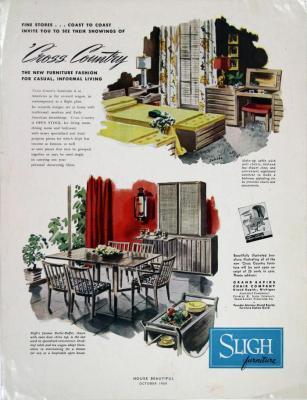 Magazine Advertisement, Sligh Furniture Cross Country