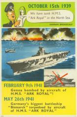 "Postcard, ""Ark Royal"""