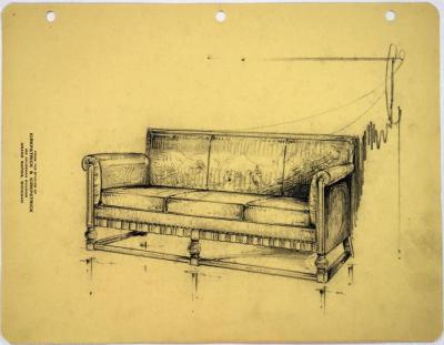 Drawing, Couch