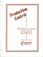 Article, Production Control, Reprinted From Cosgrove's Magazine