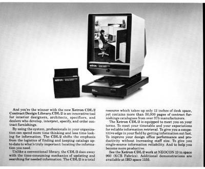 Brochure, Xetron, CDL/2 at Neocon 13, Contract Design Library