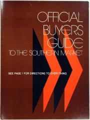 Trade Catalog, Official Buyers Guide to the Southern Market