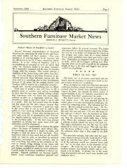Magazine Article, Southern Furniture Market News