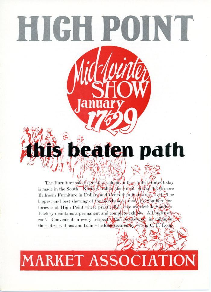 Advertisement, High Point Market Association, Mid-Winter Show