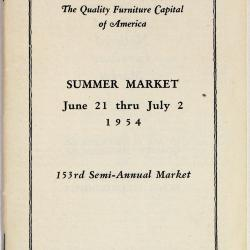 Booklet, Furniture Buyers Visiting Grand Rapids, 153rd Semi-Annual Market
