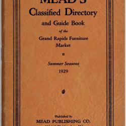 Booklet, Mead's Classified Directory and Guide Book of the Grand Rapids Furniture Market