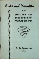 Roster and Directory, The Salesmen's Club of the Grand Rapids Furniture Exposition