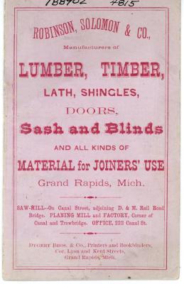 Price Booklet, Robinson, Solomon & Co.