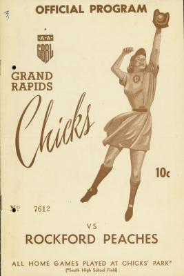 Program, AAGBBL Grand Rapids Chicks