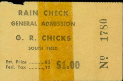 Rain Check, AAGBBL Grand Rapids Chicks