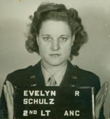 Military Identification Photograph of Evelyn Schulz