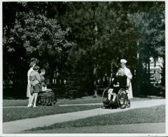 Photograph, Pine Rest Nurse Pushing Wheelchair