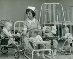 Photograph, Pine Rest Nurse with Babies