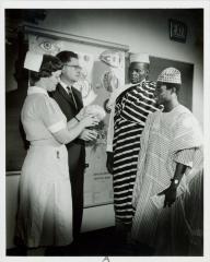 Photograph, Pine Rest Nurse with Model Brain