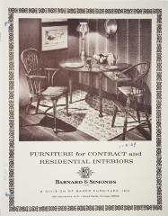 Trade Catalog, Barnard & Simonds Company, Inc., Furniture for Contract and Residential Interiors