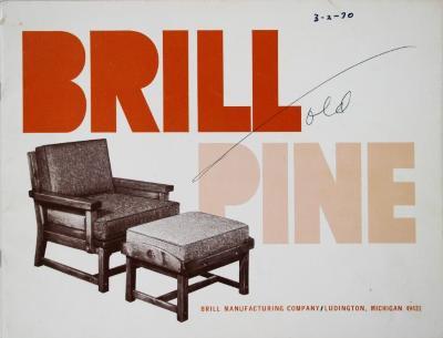 Trade Catalog, Brill Manufacturing Company, Brill Pine Furniture
