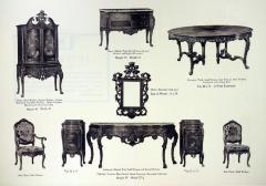 Autographed Suite Furniture Plate, Berkey & Gay Furniture Company, The Venezia