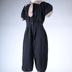 Woman's Bathing Costume, 2-piece, Black And Tan