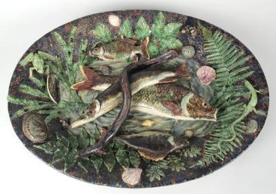 Rusticware Platter, Fish And Eel