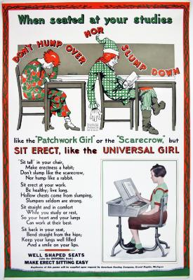 Poster, Universal Desks by American Seating Company