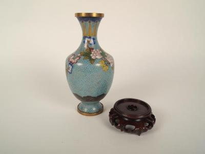 'enameled' Vase