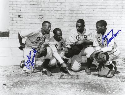 Photograph, Autographed, Grand Rapids Black Sox Baseball Players