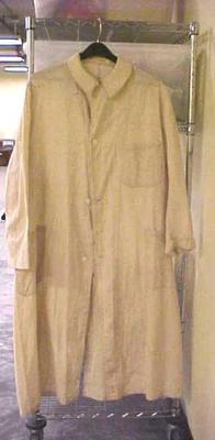 Duster, Man's, Ecru-colored, Linen, Mid-calf Length