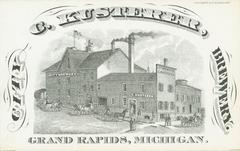 Trade Card, C. Kusterer, City Brewery