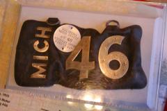 License Plate, Leather, Michigan 1905 (2 Pcs.)