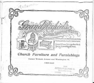 Trade Catalog (Photocopy), Grand Rapids School Furniture Works, Church Furniture and Furnishings