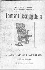 Trade Catalog (Photocopy), Grand Rapids Seating Company, Opera and Assembly Chairs