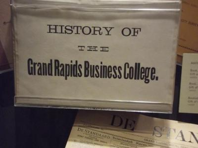 Book, 'history Of The Grand Rapids Business College,' Sealed In  Wrapper