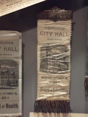 Souvenir Ribbon, Dedication Of City Hall, 'board Of Education'