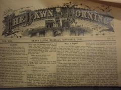 Newspaper, Dawn Of The Morning