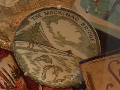Souvenir Plate, 'mackinac Bridge'