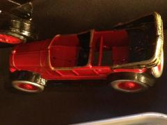 Toy Car, Red And Black Metal With Rumble Seat
