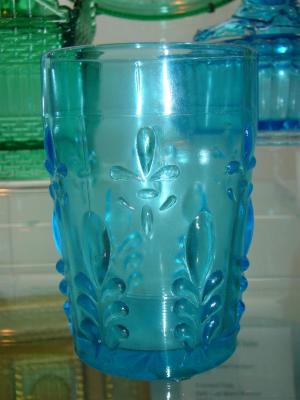 Tumbler, Fleur-de-lis, Teal Blue