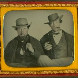 Cased Photograph, Two Unidentified Men